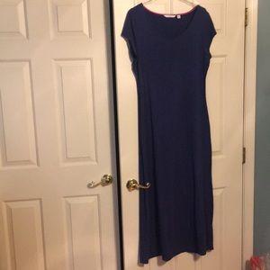 Blue knit maxi dress